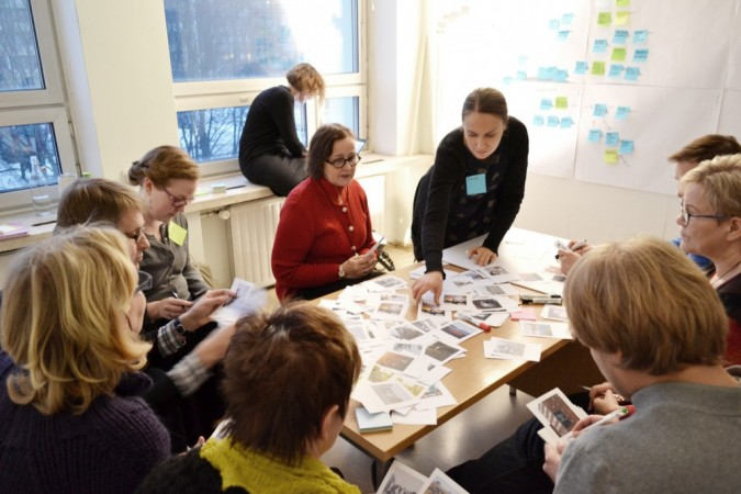 TILATon workshop in Mikkeli, ideating uses for vacant retail spaces, 2013. Client: Arts Promotion Centre Finland