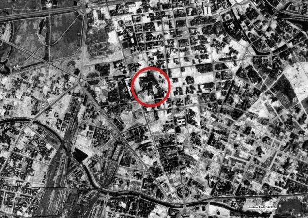 """The case site """"Postblock"""" in 1950's Berlin"""