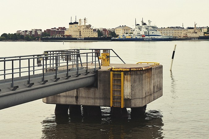 Kalasatama is situated close to central Helsinki, and great views open from the southern tip. Photo: Johannes Romppanen