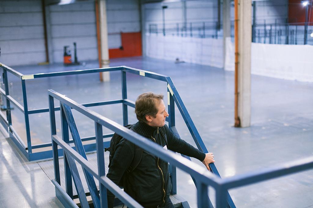 Tour of empty logistics spaces. Photo: Johannes Romppanen