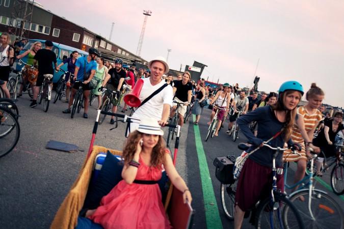 We Love Helsinki Bicycle Day event in Kalasatama, 2011. Photo: Johannes Romppanen