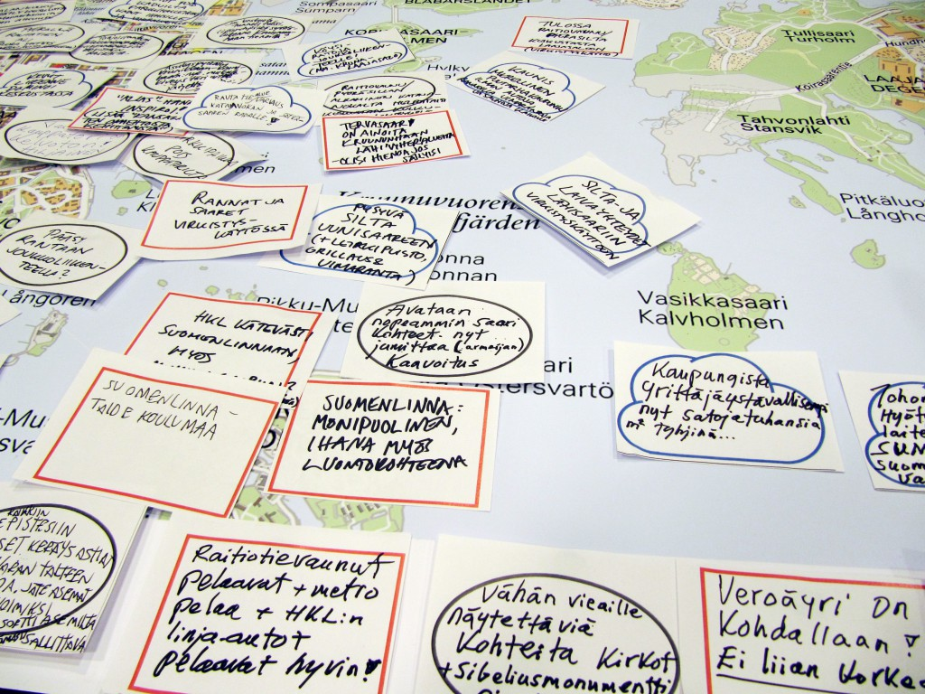 Helsinki City Plan, open co-design workshops for citizens, 2014. Client: City of Helsinki