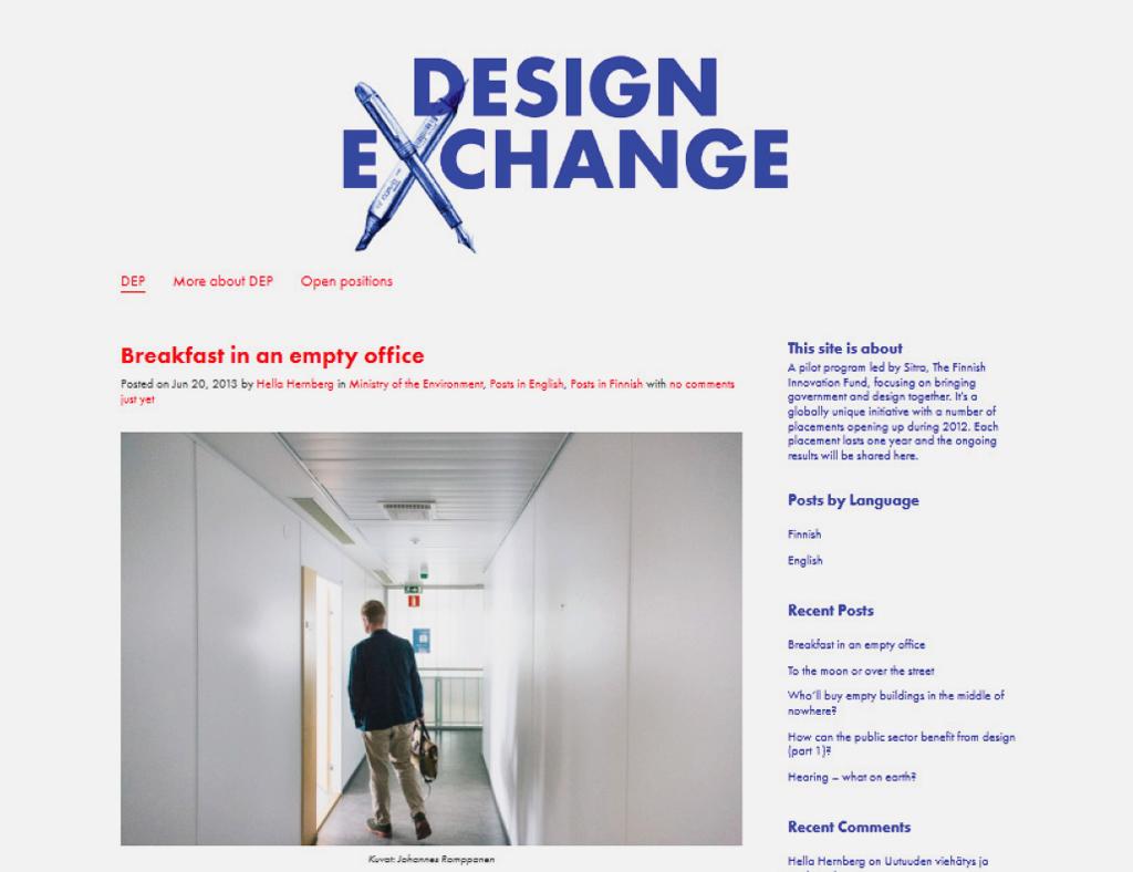 Design Exchange Programme blog