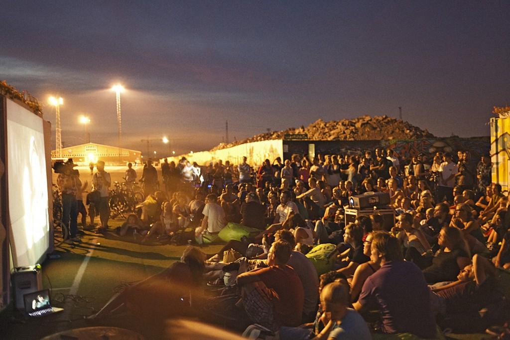 We Love Helsinki organised a bike-in film night in the warm summer of 2011. Photo: Johannes Romppanen