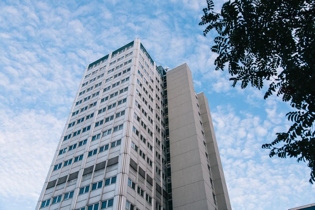Underused office tower in Merihaka, Helsinki. Photo: Johannes Romppanen